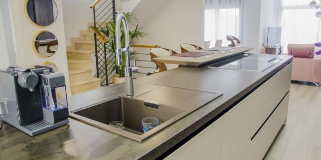 cocina abierta al salon cafran cocinas