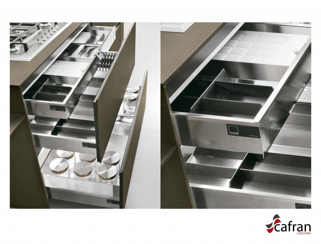 interiores cubertero acero inoxidable cafran cocinas arrital