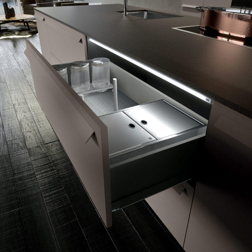 tiradores modulares en puertas cafran cocinas